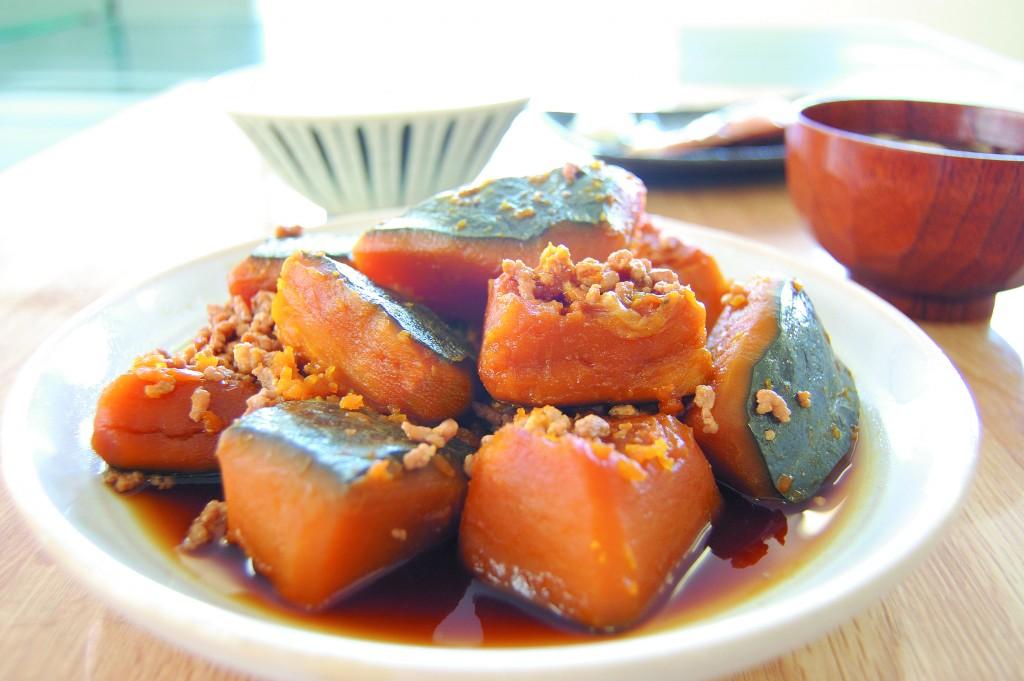●かぼちゃそぼろ煮