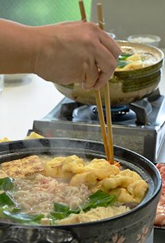 かねよ特製「ちゃんこ味噌鍋」をひと足お先にいただきました