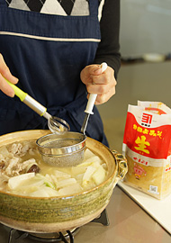 「味噌鍋」麦味噌やまぶきを使って作ってみました。